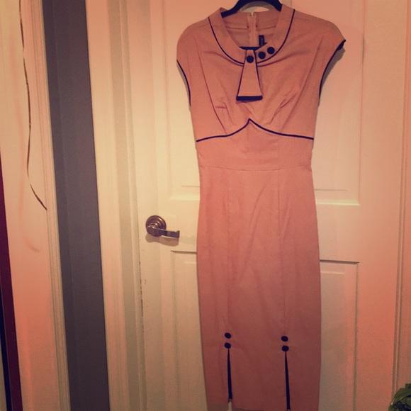 Stop Staring Dresses & Skirts - Vintage Style Pink Dress